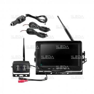 Belaidė vaizdo stebėjimo sistema (kamera 453709101, 7 colių monitorius, 4 kanalai, 12-24V) 10