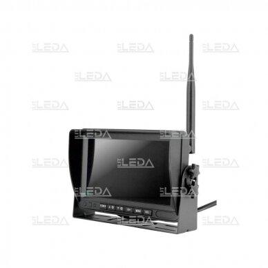 Belaidė vaizdo stebėjimo sistema (kamera 453709101, 7 colių monitorius, 4 kanalai, 12-24V) 2