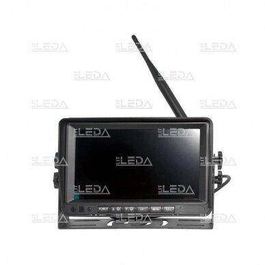 Belaidė vaizdo stebėjimo sistema (kamera 453709101, 7 colių monitorius, 4 kanalai, 12-24V) 4
