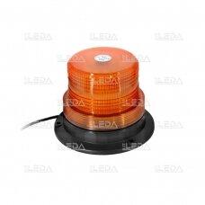 Įspėjamasis LED švyturėlis oranžinis prisukamas R10 10V-110V