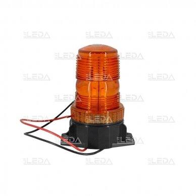 Įspėjamasis LED švyturėlis oranžinis prisukamas R10 10V-110V 3