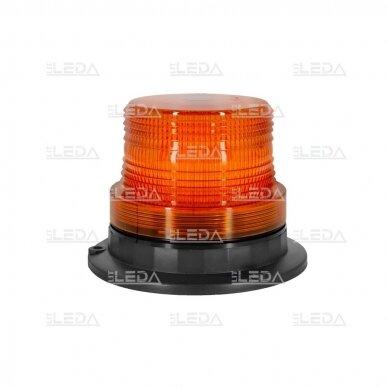 Įspėjamasis LED švyturėlis oranžinis prisukamas R10 10V-110V 2