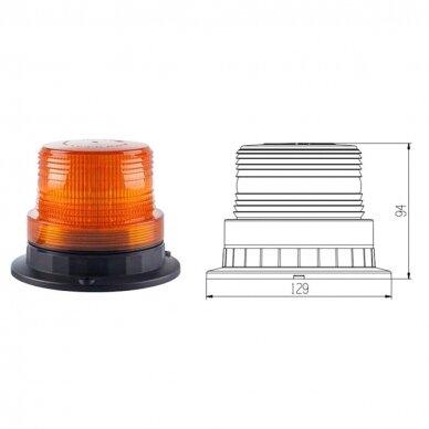 Įspėjamasis LED švyturėlis oranžinis prisukamas R10 10V-110V 4
