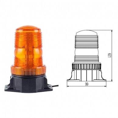 Įspėjamasis LED švyturėlis oranžinis prisukamas R10 10V-110V 5