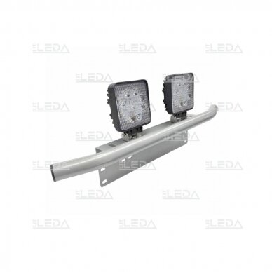 Laikiklis LED žibinto ir valstybinio numerio (sidabrinis) 4