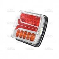 LED Galinis Žibintas 4 funkc., 12-24V, 110x103mm, kairinis
