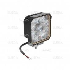 LED darbo žibintas su ON/OFF jungikliu 35W, OSRAM P8, plataus spindulio