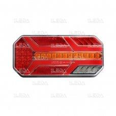 LED Galinis Žibintas 6 funkc., 12-24V, 235x110mm, kairinis