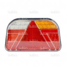 LED Galinis Žibintas 6 funkc., 12-24V, 241x140mm, dešininis