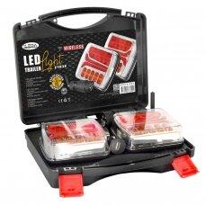 LED galinių žibintų komplektas 12V; pakraunamas, belaidis
