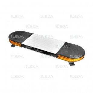 LED švyturėlis oranžinis, tvirtinamas varžtais, 60W, 12-24V