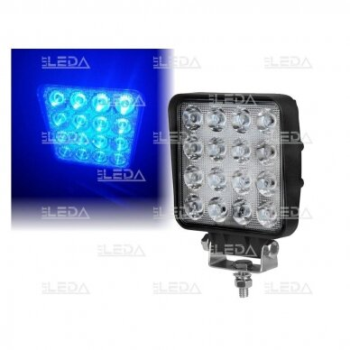LED darbo žibintas 16W; (mėlyno siauro spindulio)