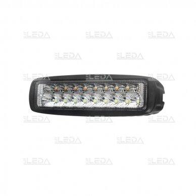 LED darbo žibintas 18W; 1320lm (balta + geltona, combo spindulys) 3