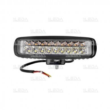 LED darbo žibintas 18W; 1320lm (balta + geltona, combo spindulys) 2