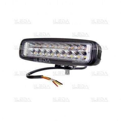 LED darbo žibintas 18W; 1320lm (balta + geltona, combo spindulys)