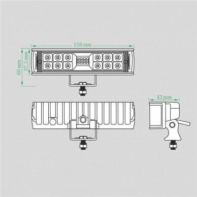 LED Darbo Žibintas 18W Kombinuoto spindulio 5