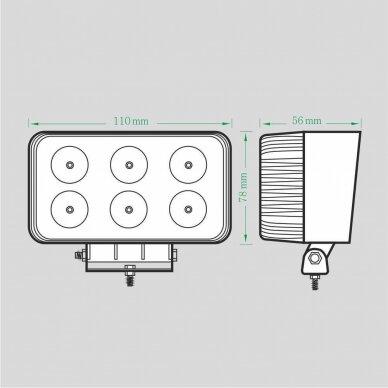 LED Darbo Žibintas 18W Siauro spindulio EMC 4