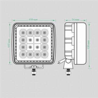 LED Darbo Žibintas 27W Kombinuoto spindulio EMC 5