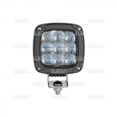 LED darbo žibintas 27W (mėlynas, kvadratinis korpusas) 4