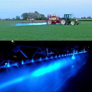 LED darbo žibintas 27W (mėlynas, kvadratinis korpusas) 6