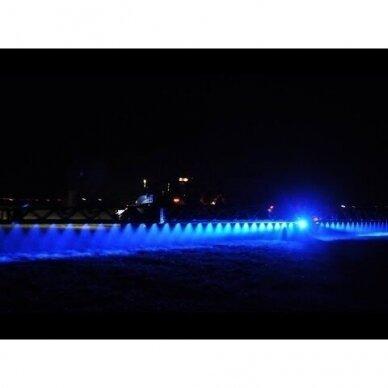 LED darbo žibintas 27W (mėlynas, kvadratinis korpusas) 5