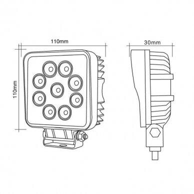 LED Darbo Žibintas 27W Siauro spindulio EMC 5