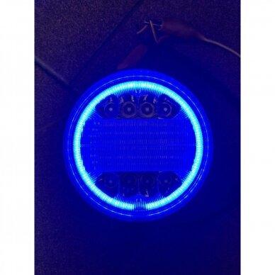 LED Darbo Žibintas 30W combo, mėlyna angelo akis EMC 7