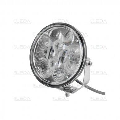 LED darbo žibintas 36W, (combo spindulys, apvalus korpusas)