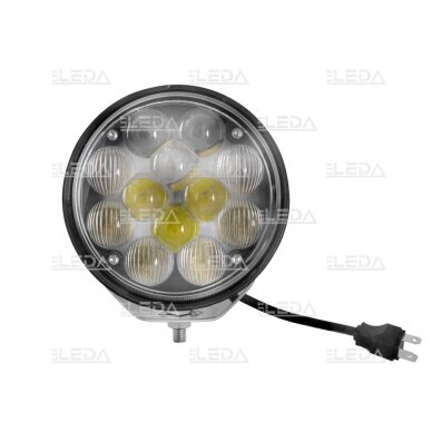 LED darbo žibintas 36W, (combo spindulys, apvalus korpusas) 4