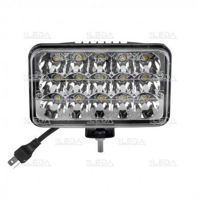 LED Darbo Žibintas 45W Hi/Low Beam 2