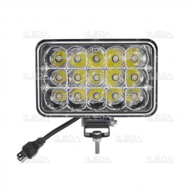 LED Darbo Žibintas 45W Hi/Low Beam 5