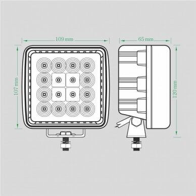 LED Darbo Žibintas 48W Kombinuoto spindulio EMC 7