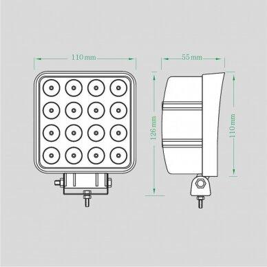 LED Darbo Žibintas 48W Plataus spindulio E9 EMC 6
