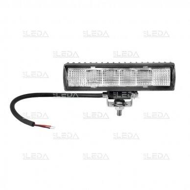 LED darbo žibintų komplektas 2x18W; combo; su pajungimo laidais OSRAM; R112, R10, EMC 3