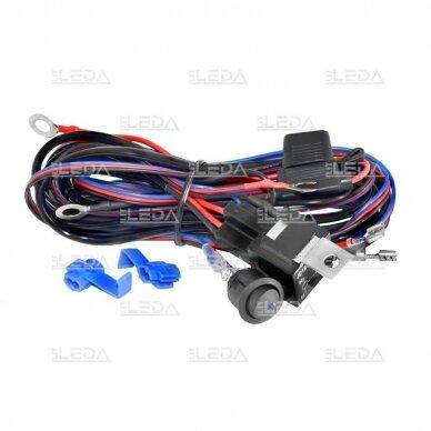 LED darbo žibintų komplektas 2x18W; combo; su pajungimo laidais OSRAM; R112, R10, EMC 8