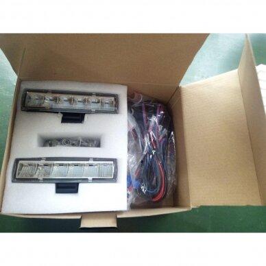 LED darbo žibintų komplektas 2x18W; combo; su pajungimo laidais OSRAM; R112, R10, EMC 9