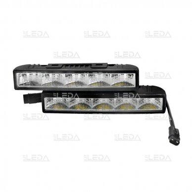 LED DRL dienos šviesos žibintai E4, R87, 307 5