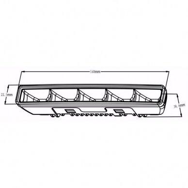 LED DRL dienos šviesos žibintai E4, R87, 307 6