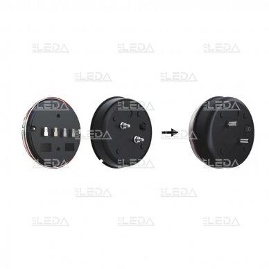 LED galinis žibintas su 3 funkcijomis, 12-24V (kairinis) 8