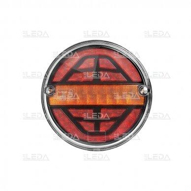 LED galinis žibintas su 3 funkcijomis, 12-24V (kairinis) 2
