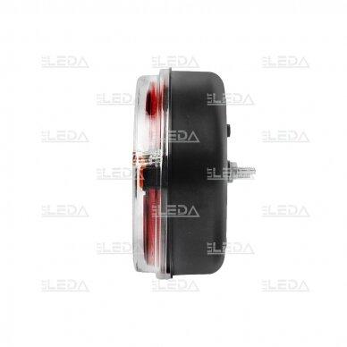 LED galinis žibintas su 3 funkcijomis, 12-24V (kairinis) 5