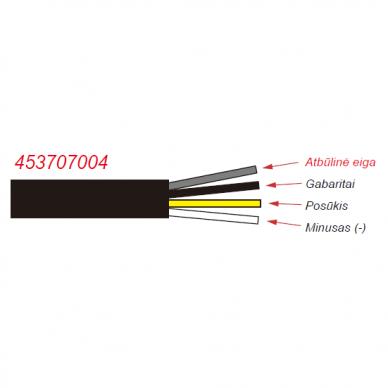 LED Galinis Žibintas 3 funkc., 12-24V, Ø136mm 5