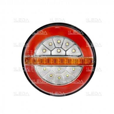 LED Galinis Žibintas 3 funkc., 12-24V, Ø136mm