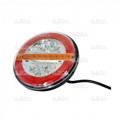 LED Galinis Žibintas 3 funkc., 12-24V, Ø136mm 2