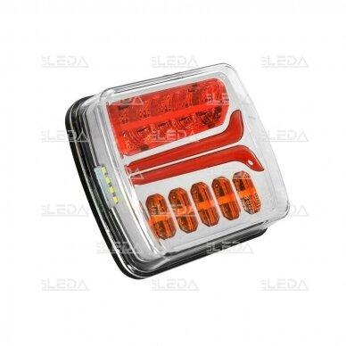 LED Galinis Žibintas 4 funkc., 12-24V, 110x103mm, dešininis 2
