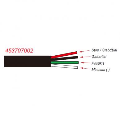 LED Galinis Žibintas 4 funkc., 12-24V, 110x103mm, dešininis 3