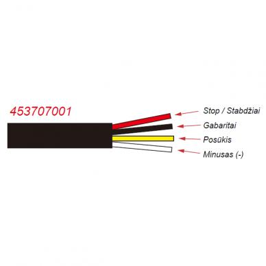 LED Galinis Žibintas 4 funkc., 12-24V, 110x103mm, kairinis 3