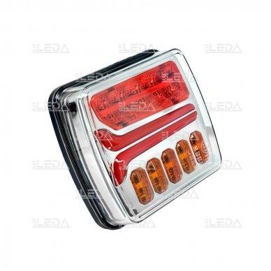 LED Galinis Žibintas 4 funkc., 12-24V, 110x103mm, kairinis 2