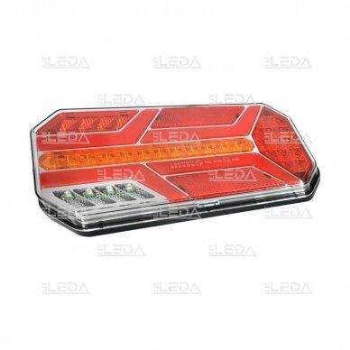 LED Galinis Žibintas 6 funkc., 12-24V, 235x110mm, dešininis 2