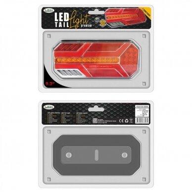 LED Galinis Žibintas 6 funkc., 12-24V, 235x110mm, dešininis 3